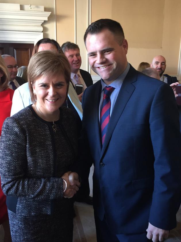 Senator Richmond meeting with FMS Sturgeon following her address to Seanad Éireann