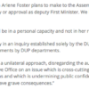 SF statement on First Minister statement and stepping aside