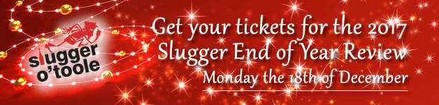 Get your tickets for the 2017Slugger End of Year Review