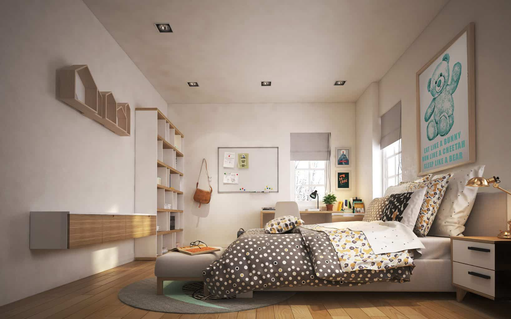 a room for young people, decoration, architecture