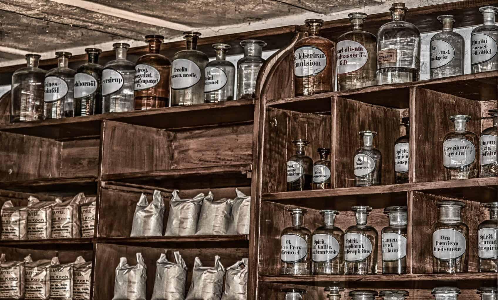 pharmacy, antique, old