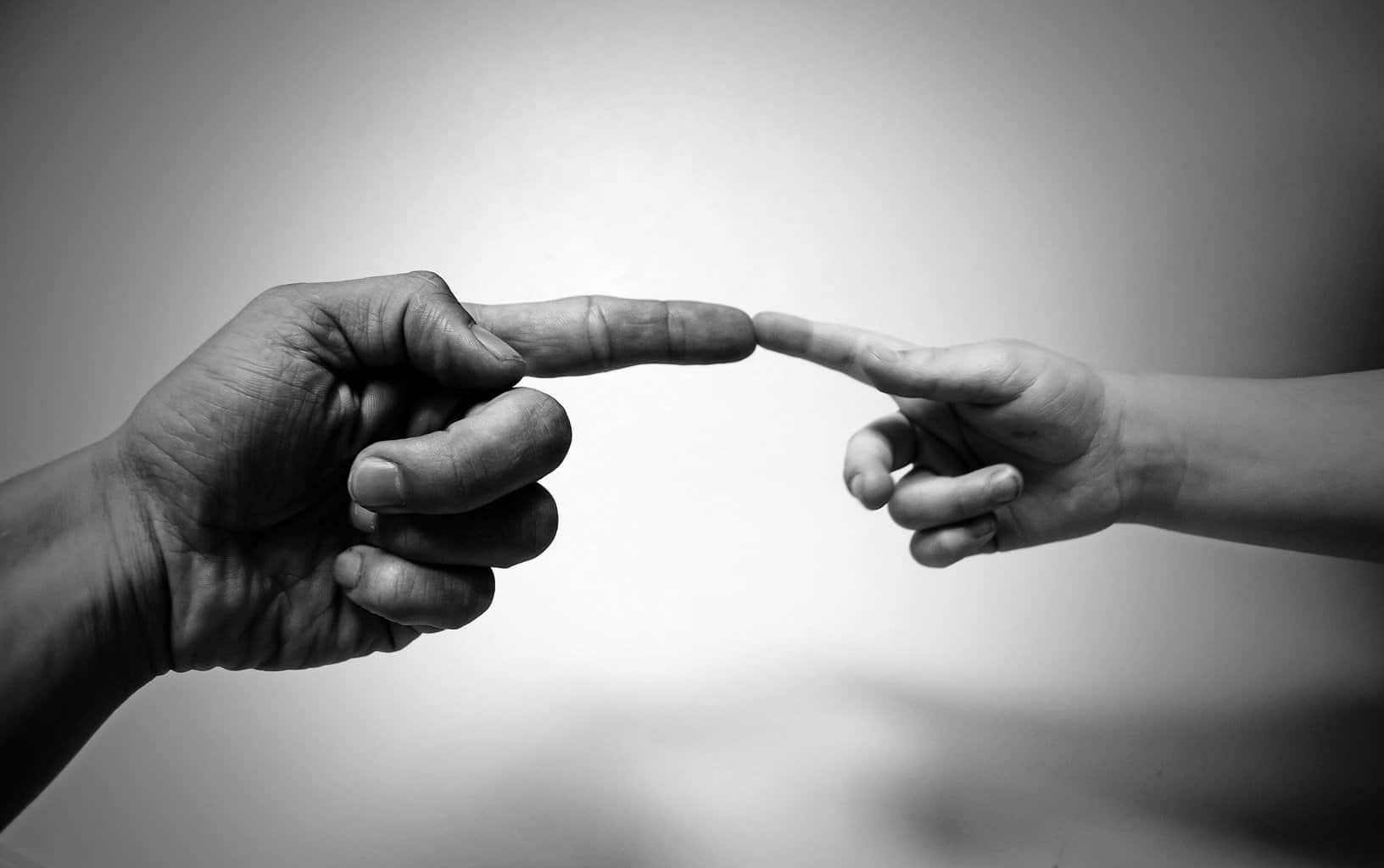 align fingers, index fingers, hands