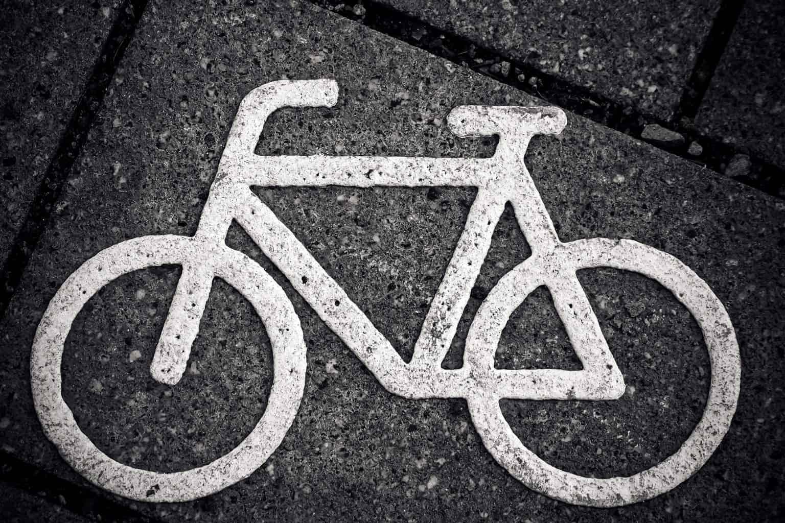 bicycle, character, bike path