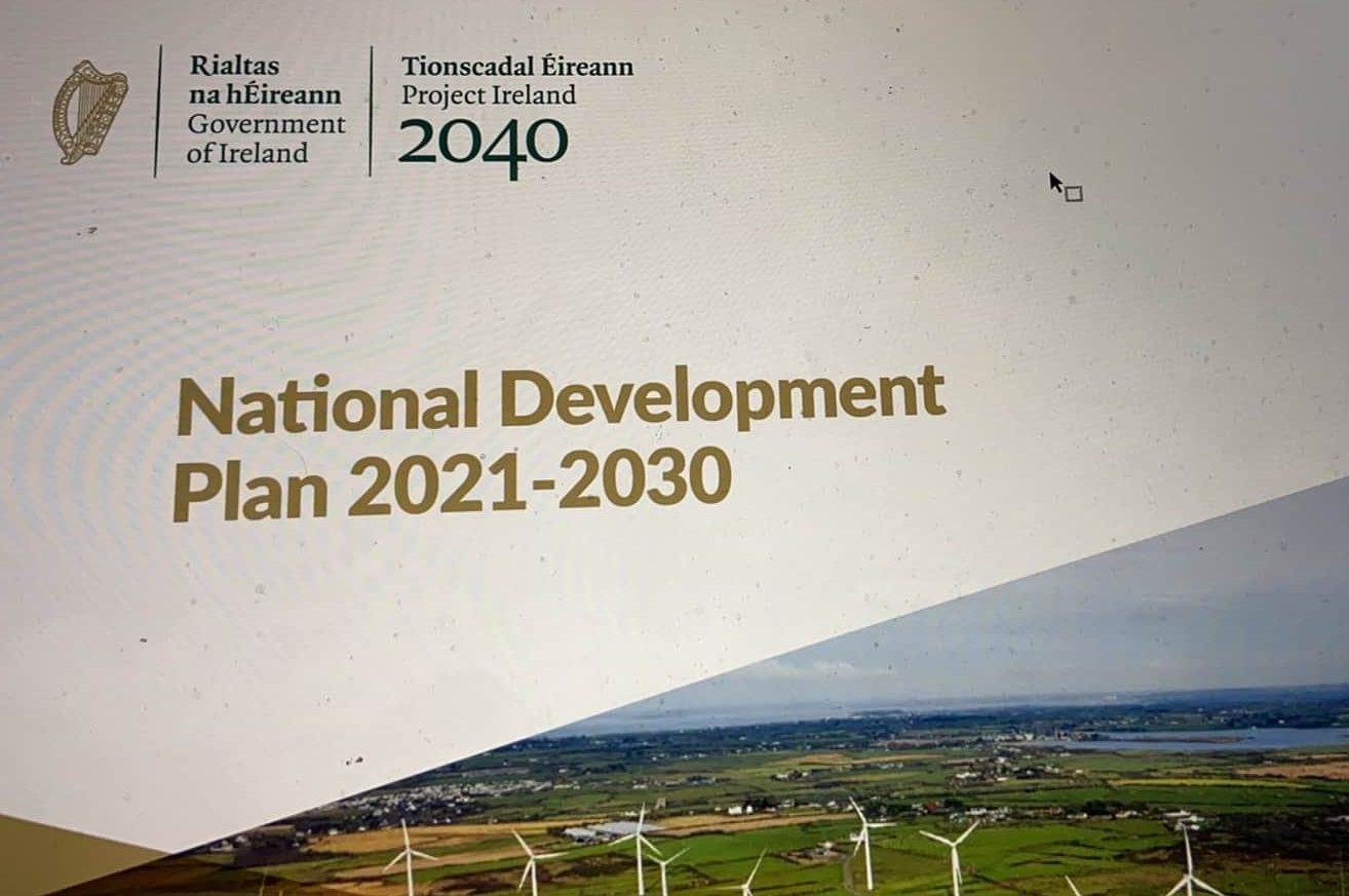 Cover of the Irish National Development Plan 2021-30