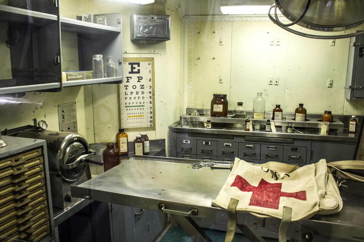 aircraft carrier infirmary, hospital, navy