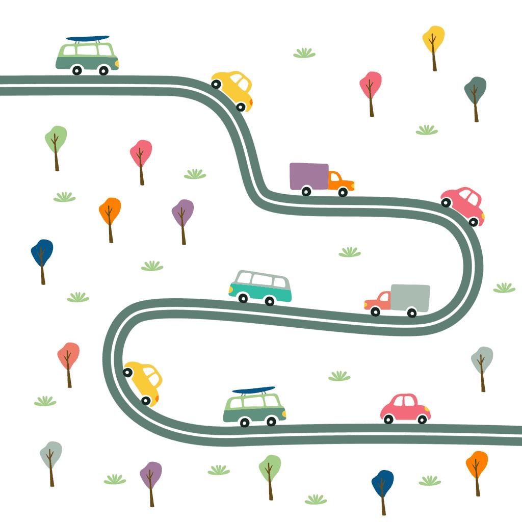 cars, road, street