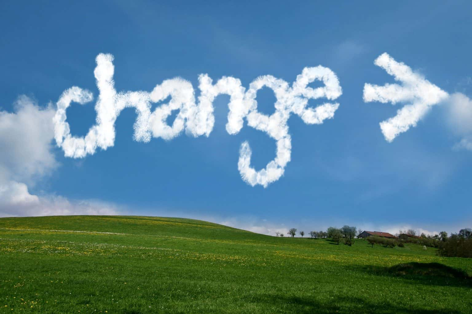 change, arrows, clouds