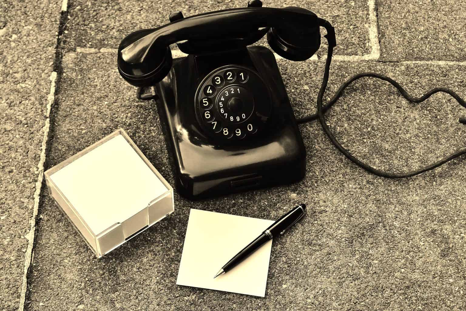 phone, old, year of construction 1955